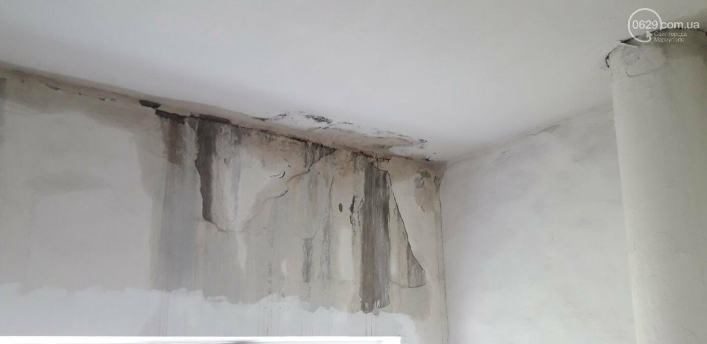 Протікаючий дах в одній з 9-поверхівок Маріуполя став каменем спотикання мешканців, - ФОТО, фото-2