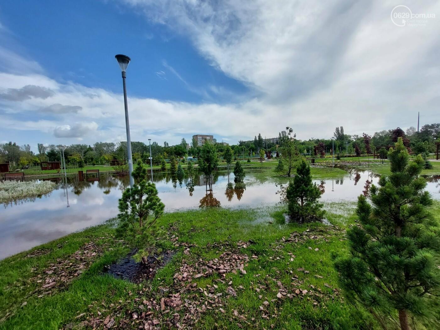 Выходные в воде. Как в Мариуполе ликвидировали последствия ливня,- ФОТО, фото-8