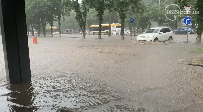 На Мариуполь обрушился ливень. Город парализован, - ФОТО, ВИДЕО, фото-1