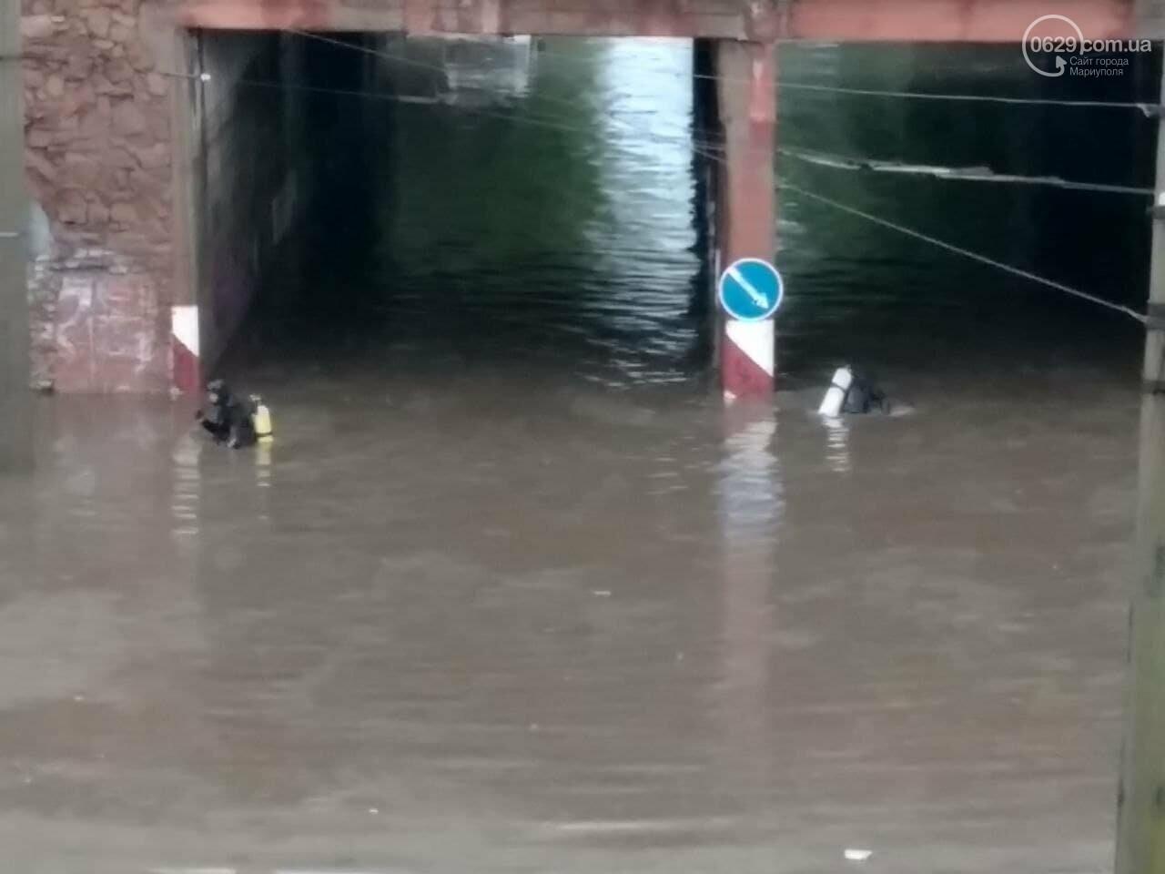 Потоп на улице Громовой. Водолазы опускаются на дно искусственного озера, - ФОТО, ВИДЕО, фото-7