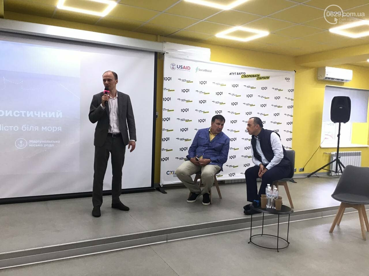Саакашвили на стуле. Как из Мариуполя хотят сделать Батуми, - ФОТО, фото-2