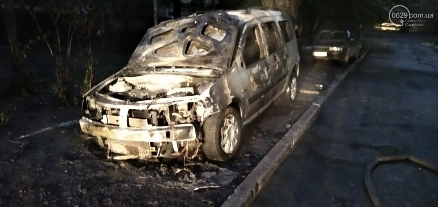 В Мариуполе дотла сгорело авто, - ФОТО, фото-3