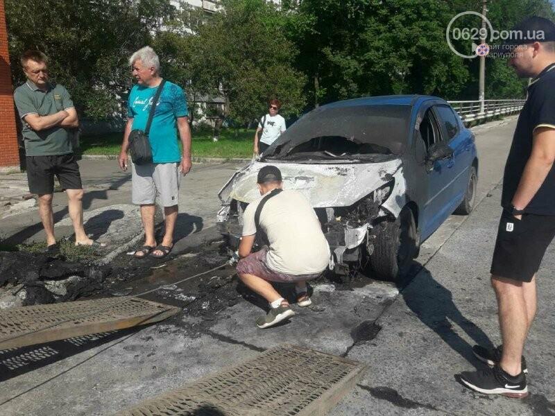 На Центральном рынке загорелась машина, - ФОТО, фото-1