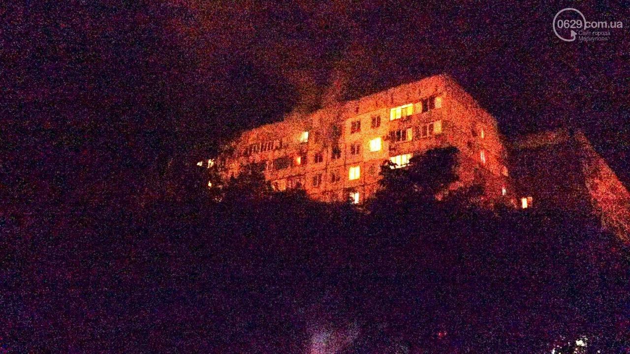 Люди выбегали из дома в одних трусах. В Мариуполе ночью горела квартира в многоэтажке, - ФОТО, фото-2