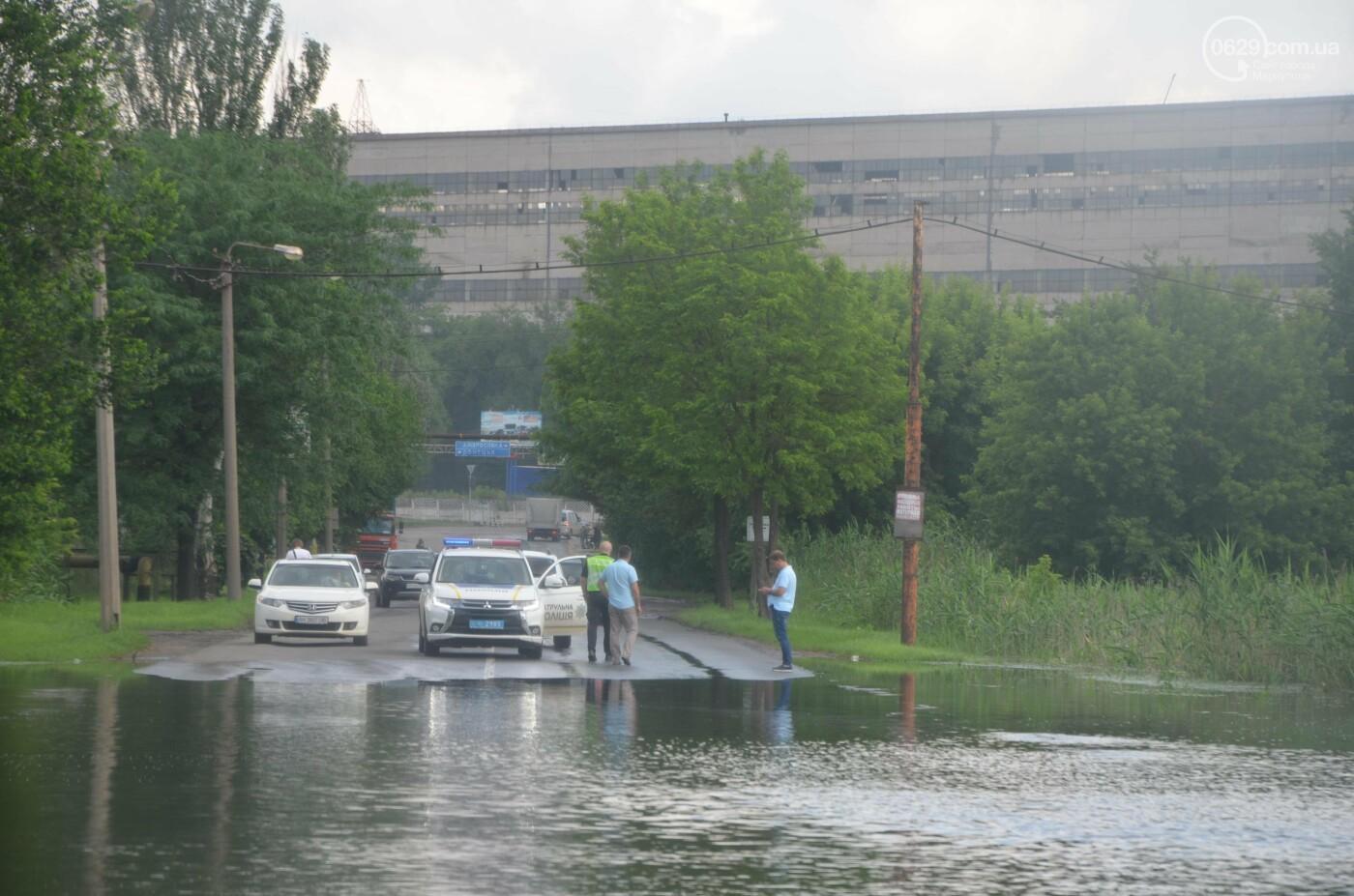 Разлилась река. В Мариуполе затопило дорогу, - ФОТОРЕПОРТАЖ, фото-2