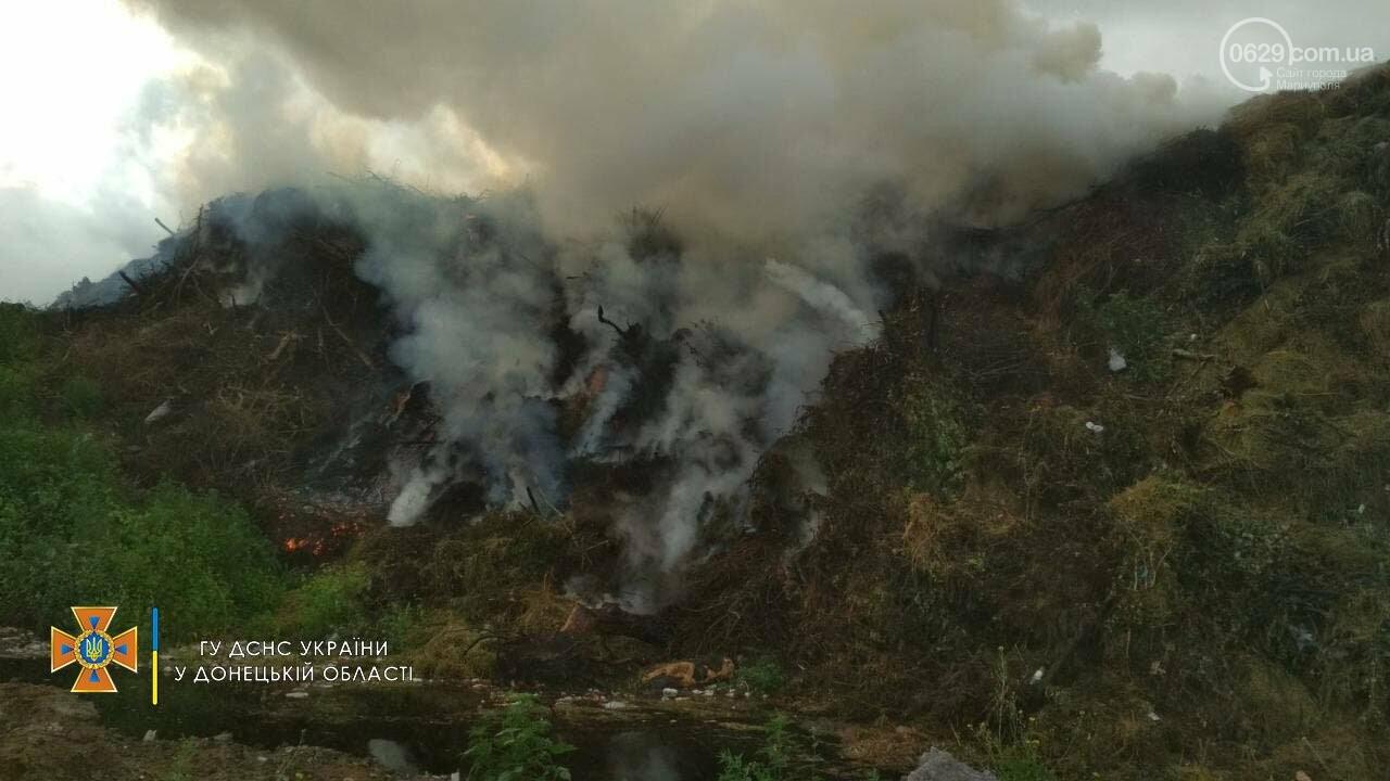 В Мариуполе горел свалочный полигон,-ФОТО, фото-1