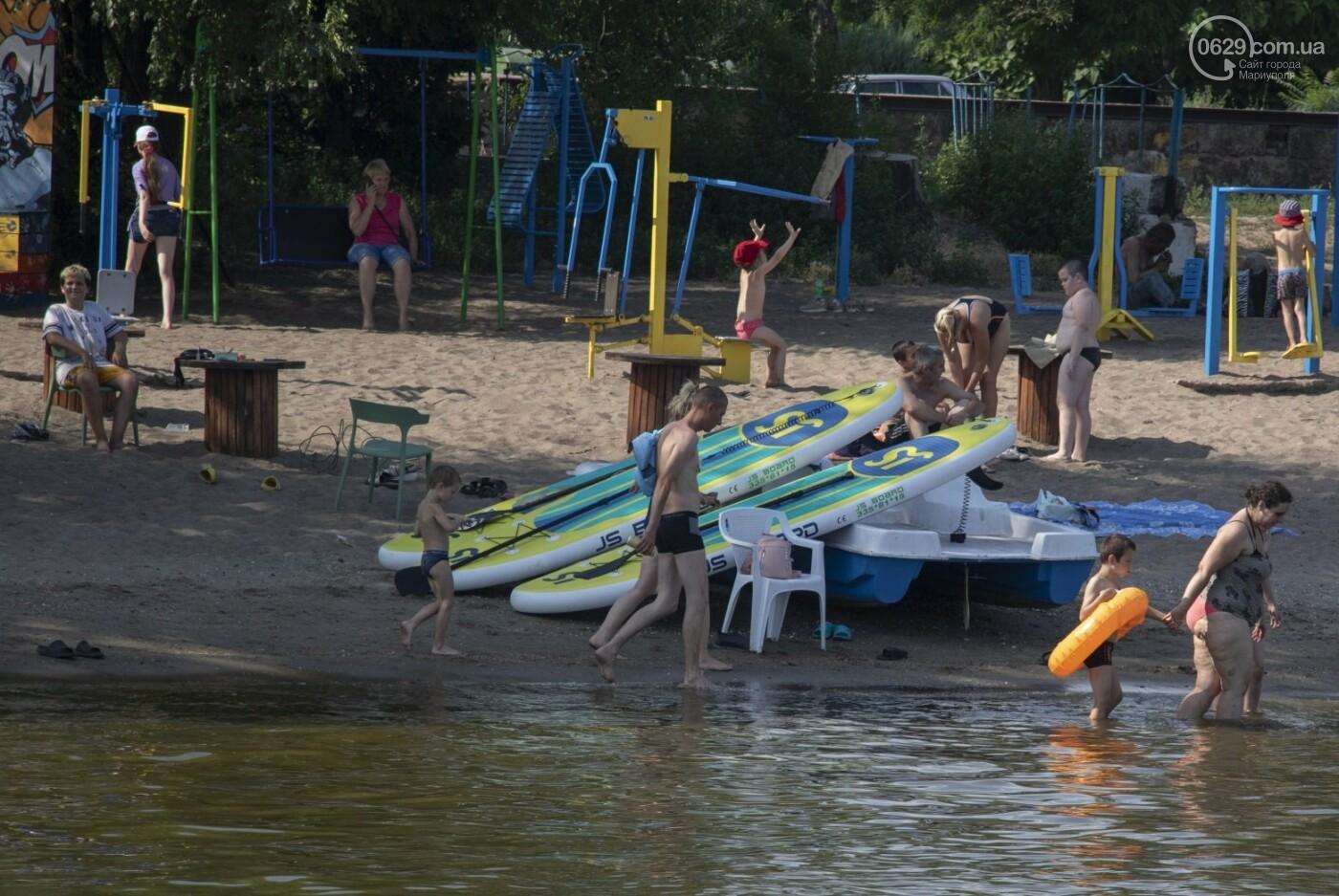 Море «закипело» от отдыхающих. Что творилось в Мариуполе на городских пляжах в выходные дни, - ФОТОРЕПОРТАЖ, фото-4