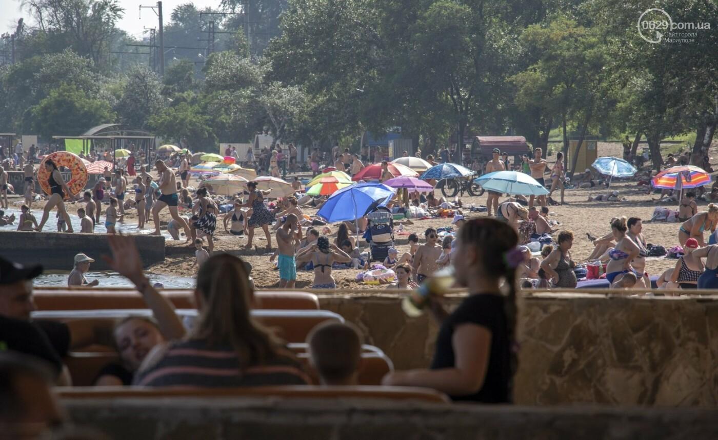 Море «закипело» от отдыхающих. Что творилось в Мариуполе на городских пляжах в выходные дни, - ФОТОРЕПОРТАЖ, фото-9