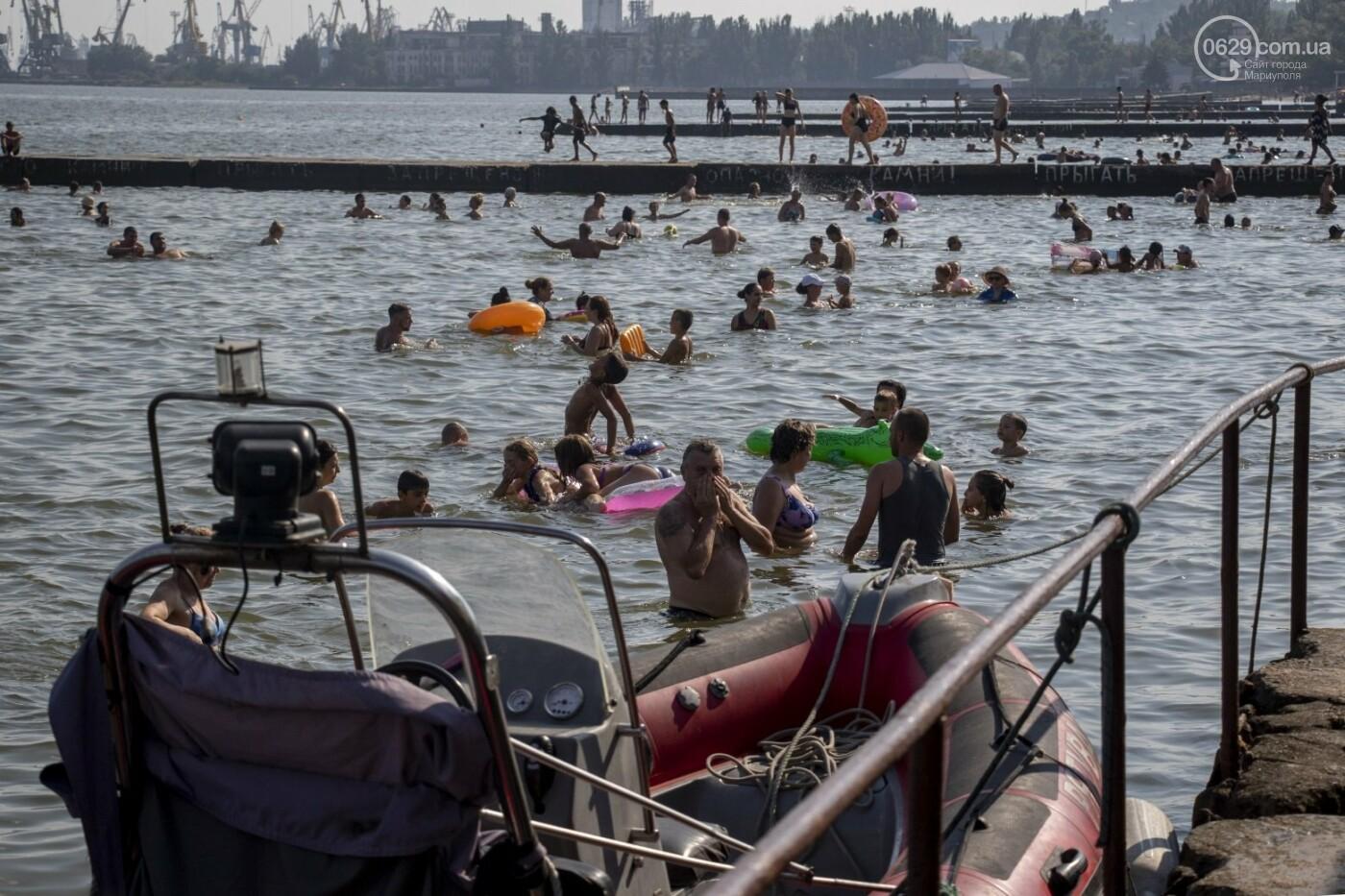 Море «закипело» от отдыхающих. Что творилось в Мариуполе на городских пляжах в выходные дни, - ФОТОРЕПОРТАЖ, фото-1