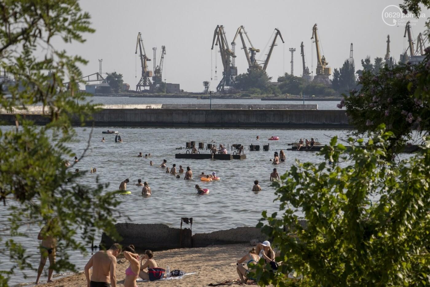 Море «закипело» от отдыхающих. Что творилось в Мариуполе на городских пляжах в выходные дни, - ФОТОРЕПОРТАЖ, фото-27