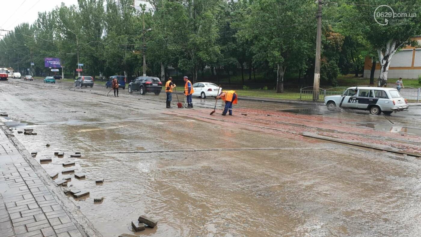 С самого утра на Мариуполь обрушился ливень, - ФОТО, фото-5