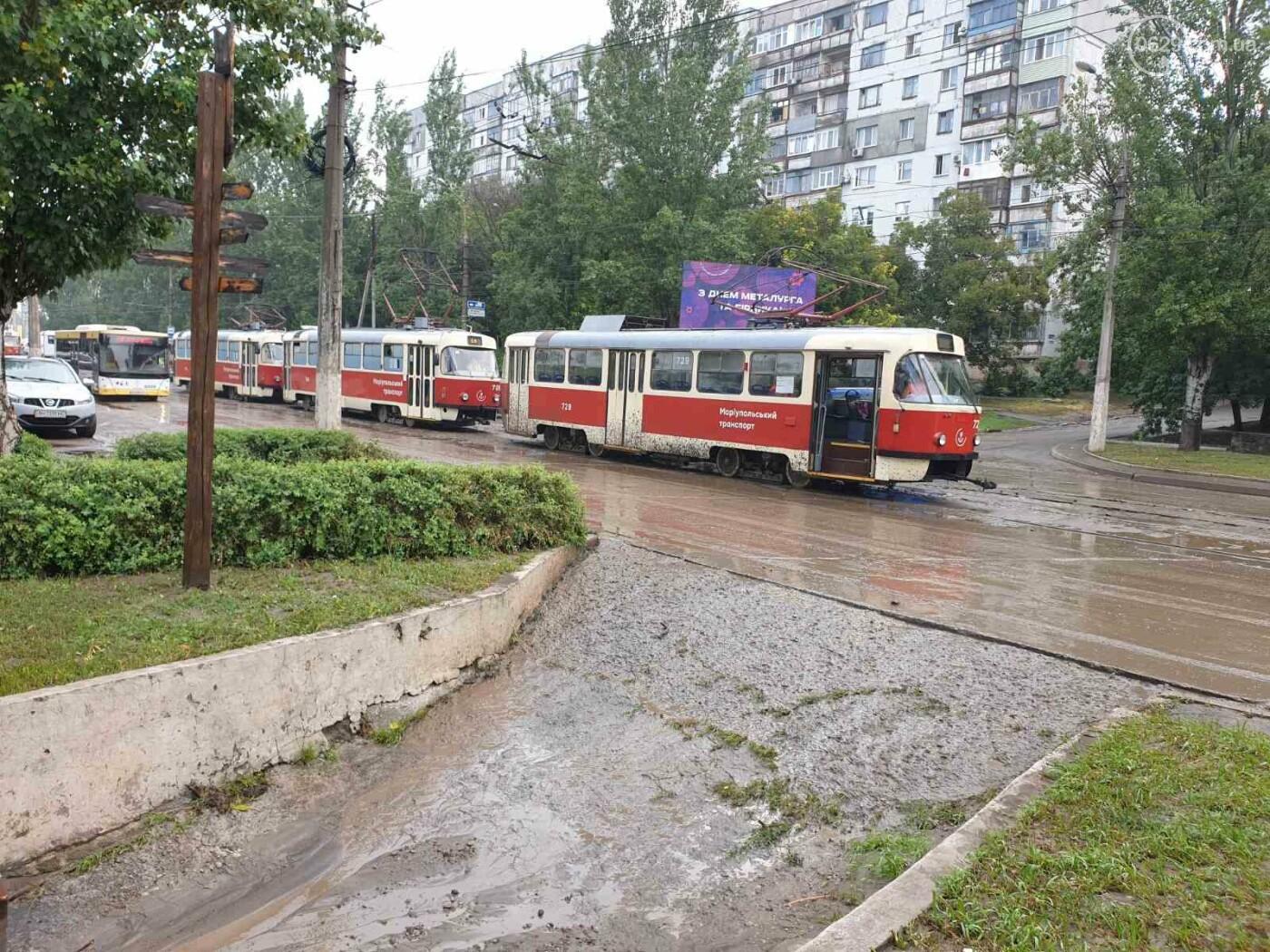 С самого утра на Мариуполь обрушился ливень, - ФОТО, фото-6