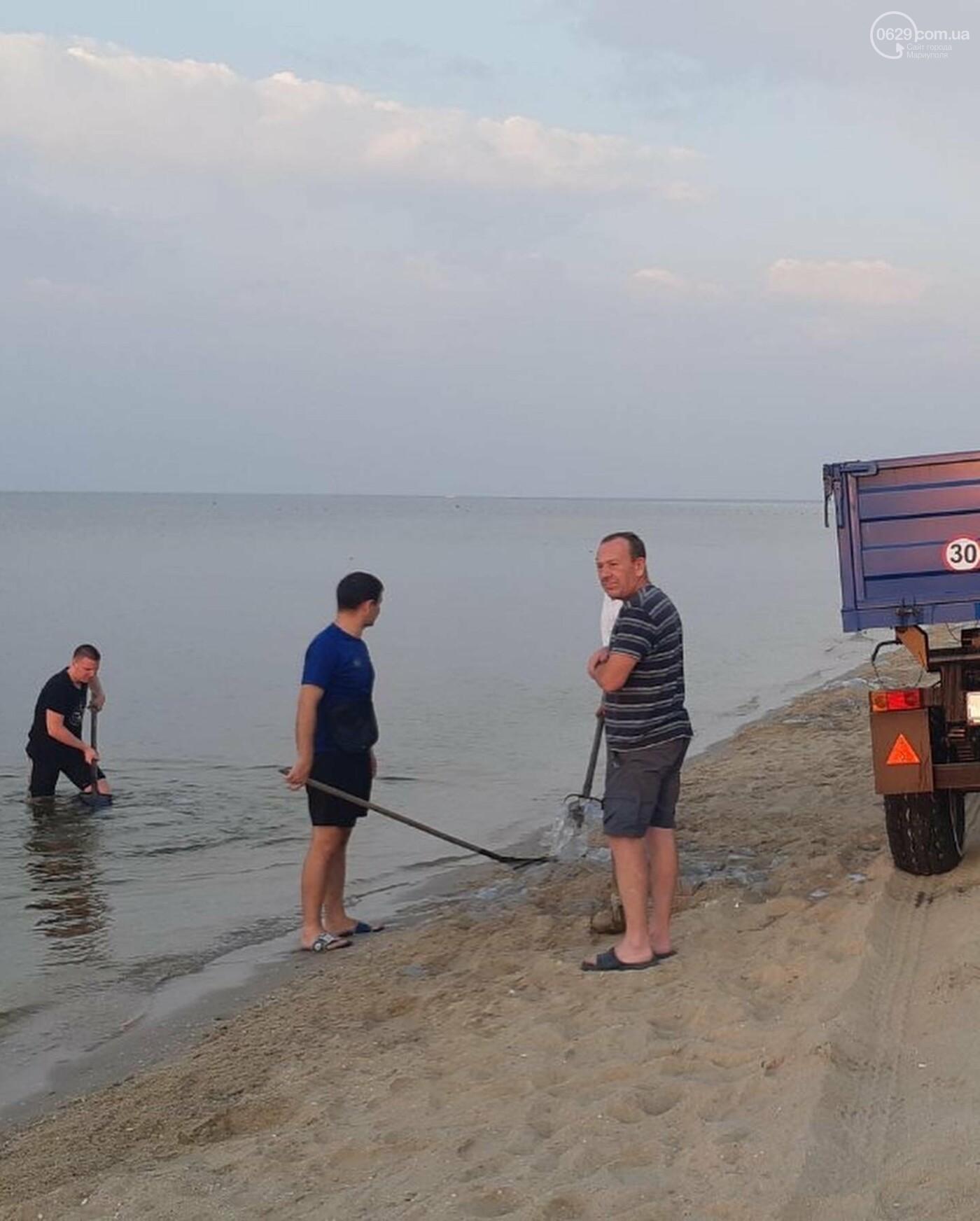 Выбрасывать, строить или есть!  Что делать с медузами, которые заполонили пляжи под Мариуполем, - ФОТО, фото-2