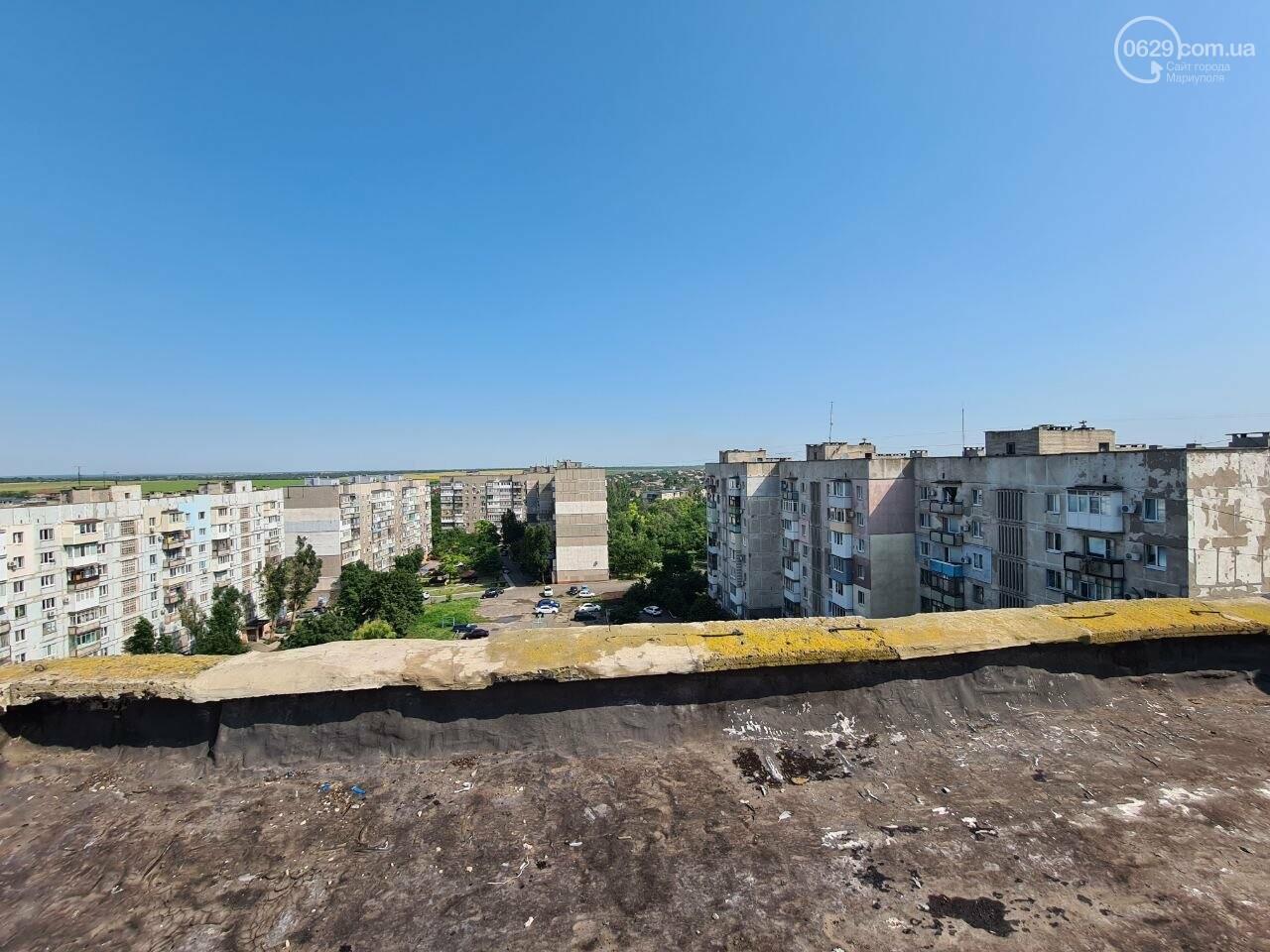 Эхо непогоды! В Мариуполе внепланово ремонтируют пострадавшую от ливня многоэтажку, - ФОТО, фото-3