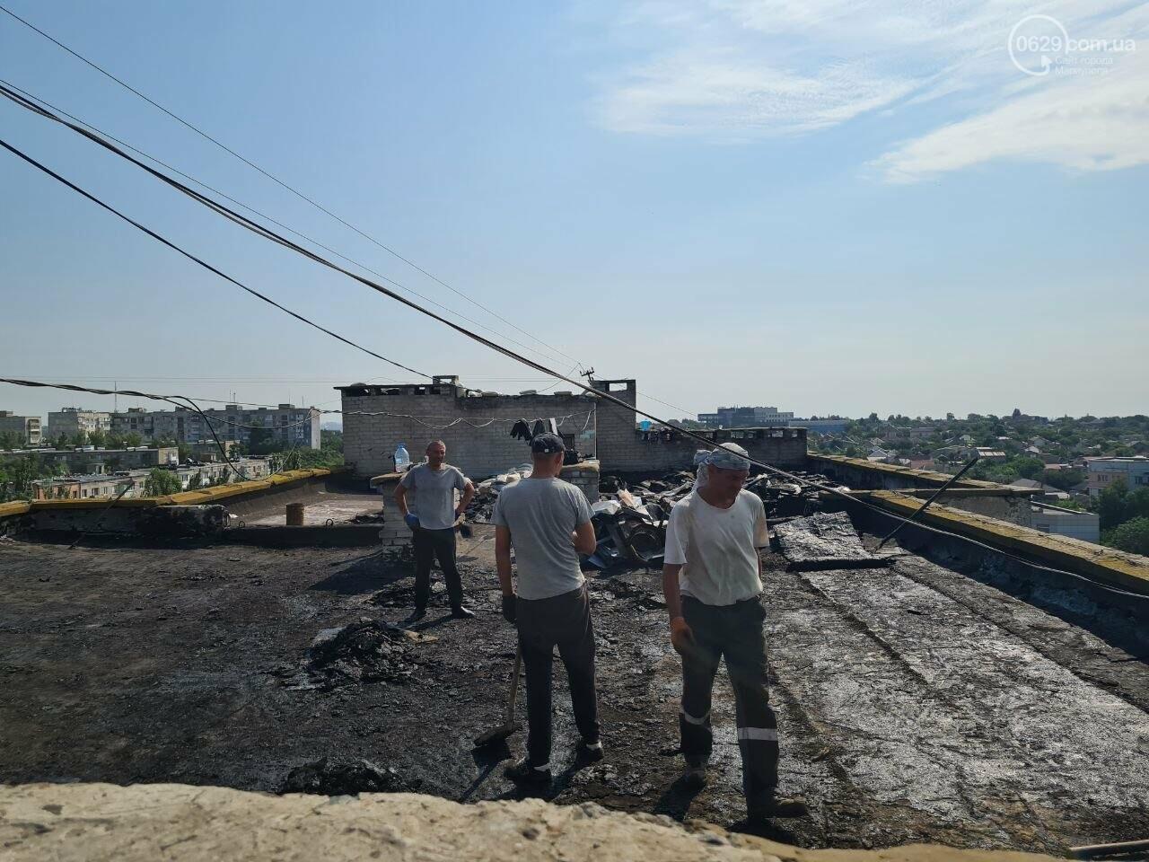 Эхо непогоды! В Мариуполе внепланово ремонтируют пострадавшую от ливня многоэтажку, - ФОТО, фото-13