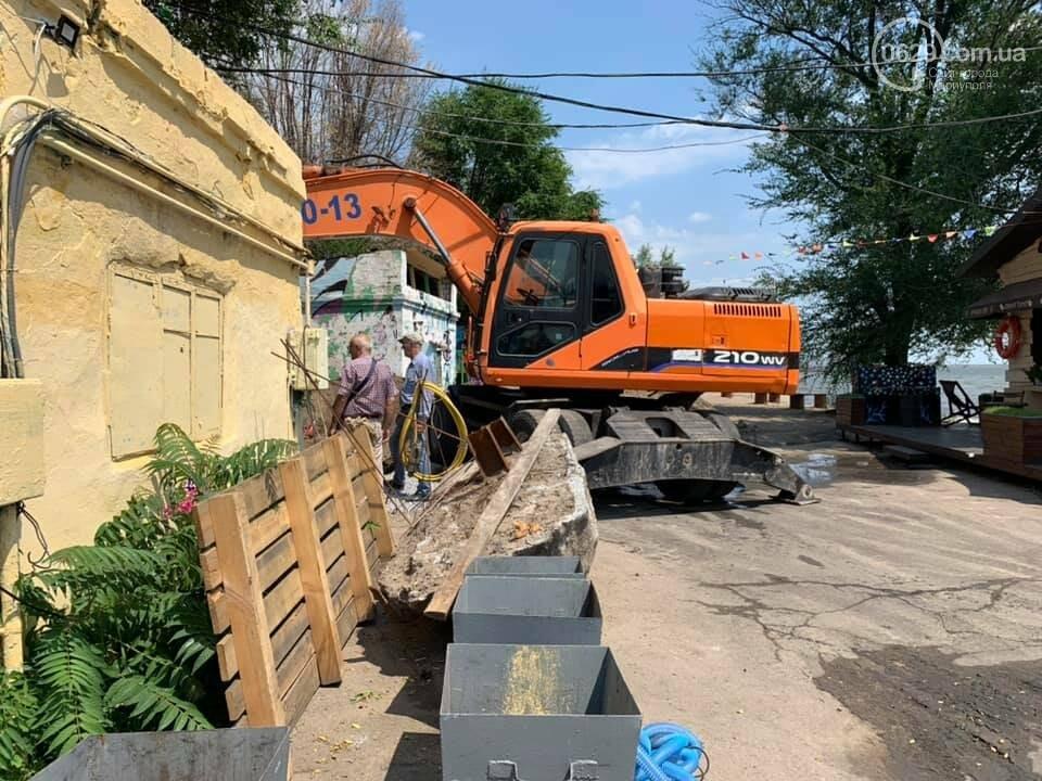 Мариупольский пирс остался без туалетов, - ФОТО, фото-3