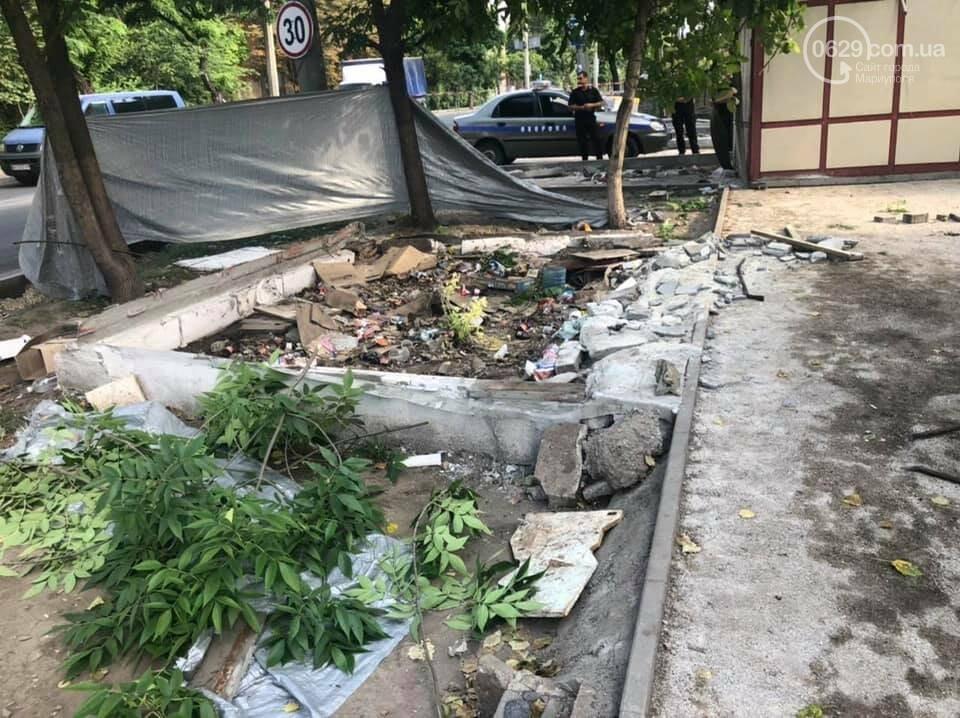 На улице Бахчиванджи со скандалом демонтировали киоск, - ФОТО, фото-1