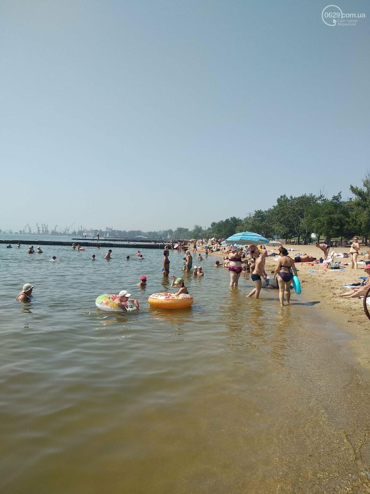 На пляжах Мариуполя – аншлаг. Большая часть отдыхающих – пьяные, - ФОТО, фото-1