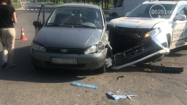 В Мариуполе авто патрульных попало в ДТП, - ФОТО, фото-1