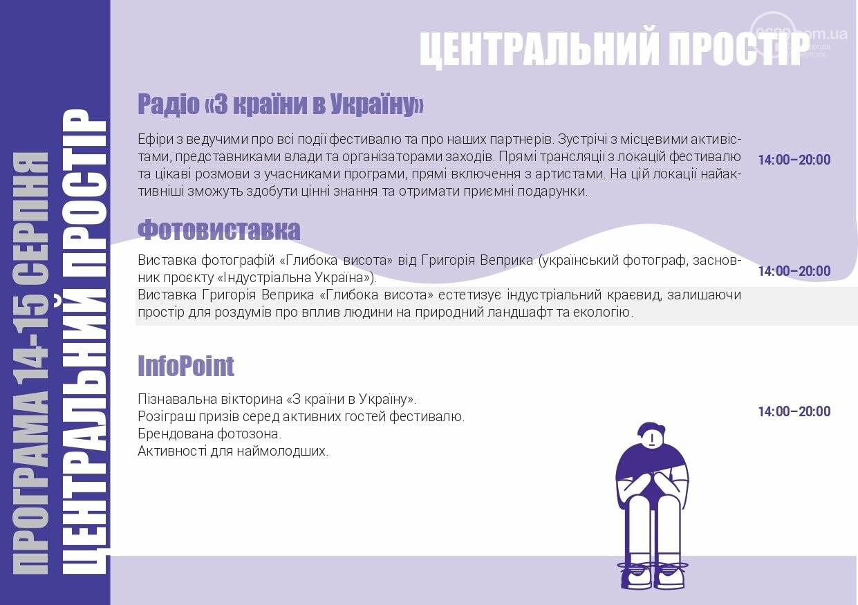 Фестиваль «З країни в Україну» в Маріуполі  - вже цими вихідними, - ПРОГРАМА, фото-2