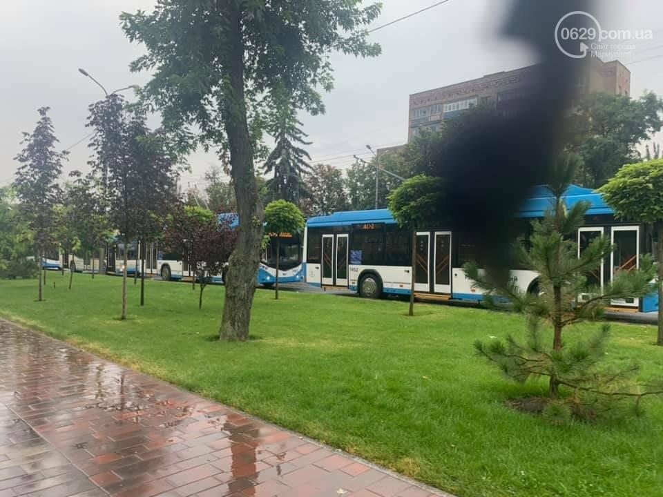 Почему в Мариуполе на проспекте Мира стояли троллейбусы, - ФОТО, фото-2