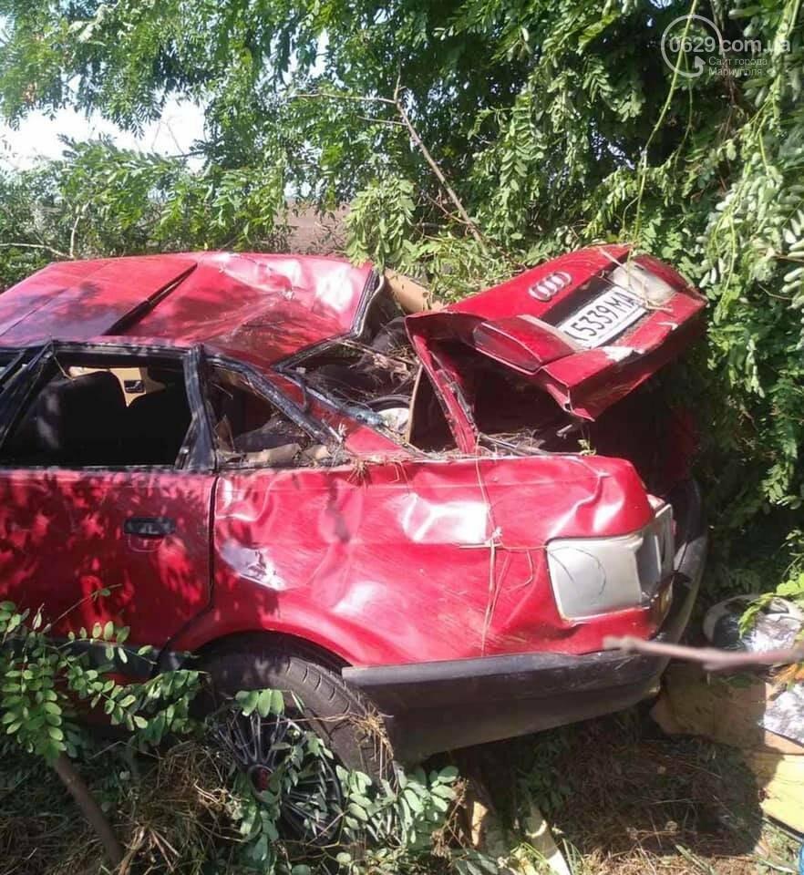 Под Мариуполем автомобиль Audi перевернулся и вылетел в кювет,- ФОТО, фото-4
