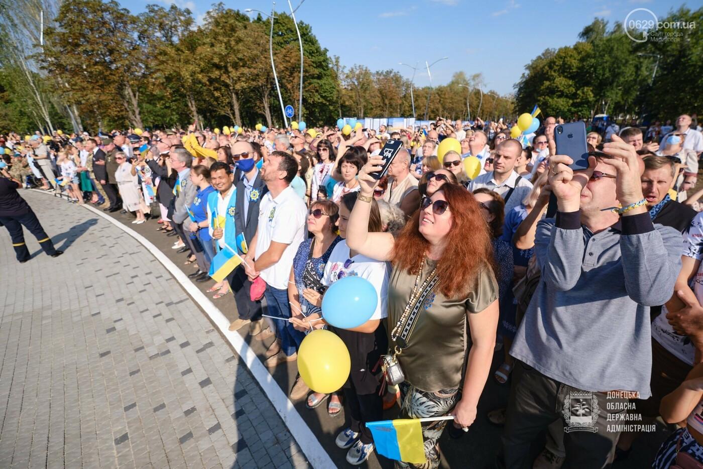 В Донецкой области подняли флаг Украины на 80 метров, - ФОТО, фото-7