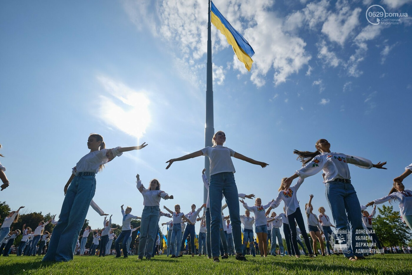 В Донецкой области подняли флаг Украины на 80 метров, - ФОТО, фото-1