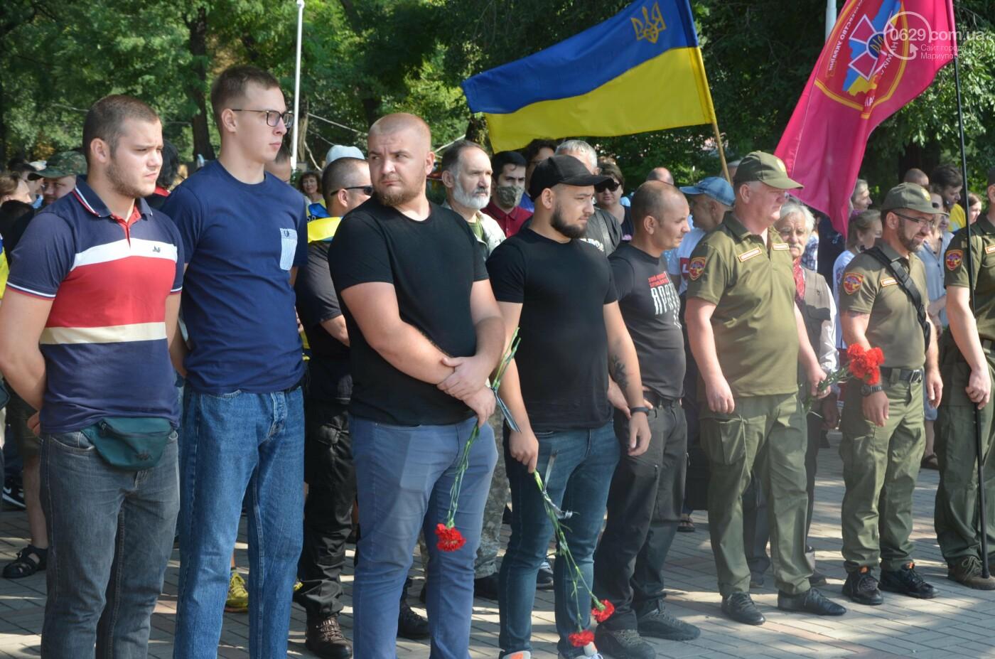 Мариупольцы на коленях почтили павших защитников Украины, - ФОТОРЕПОРТАЖ, фото-2