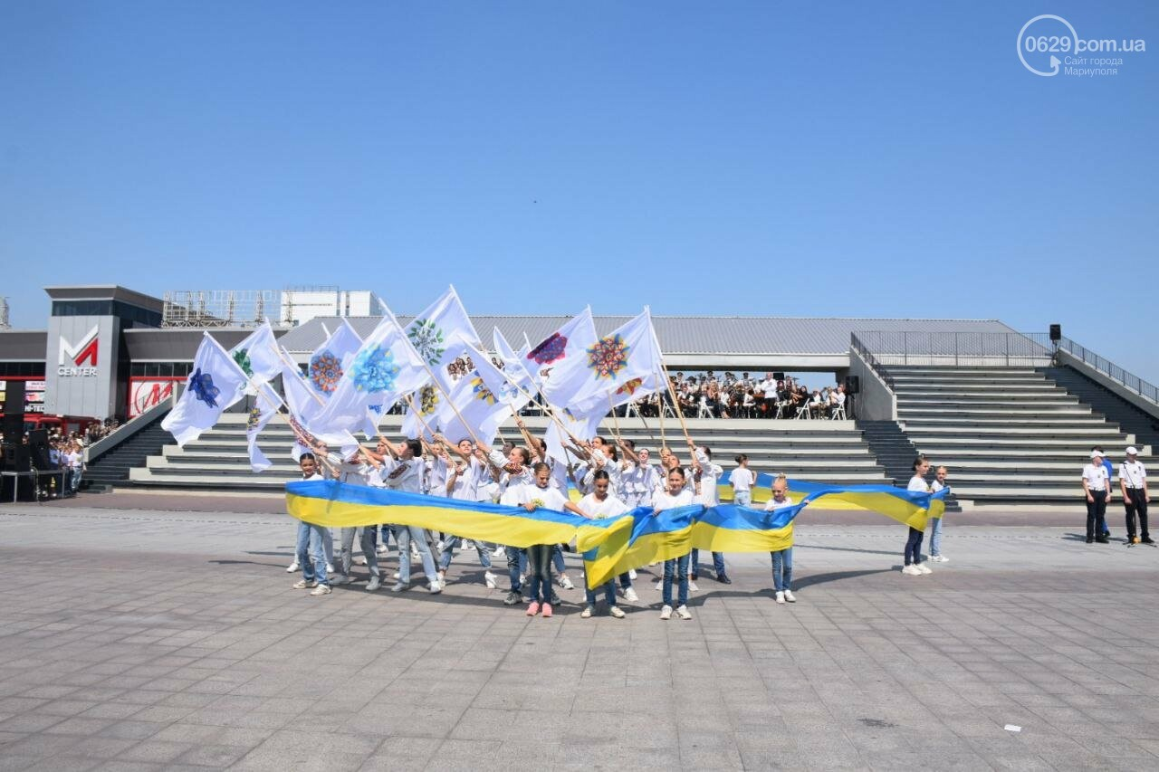 В Мариуполе провели необычный флешмоб ко Дню Независимости, - ФОТОРЕПОРТАЖ, ВИДЕО, фото-47