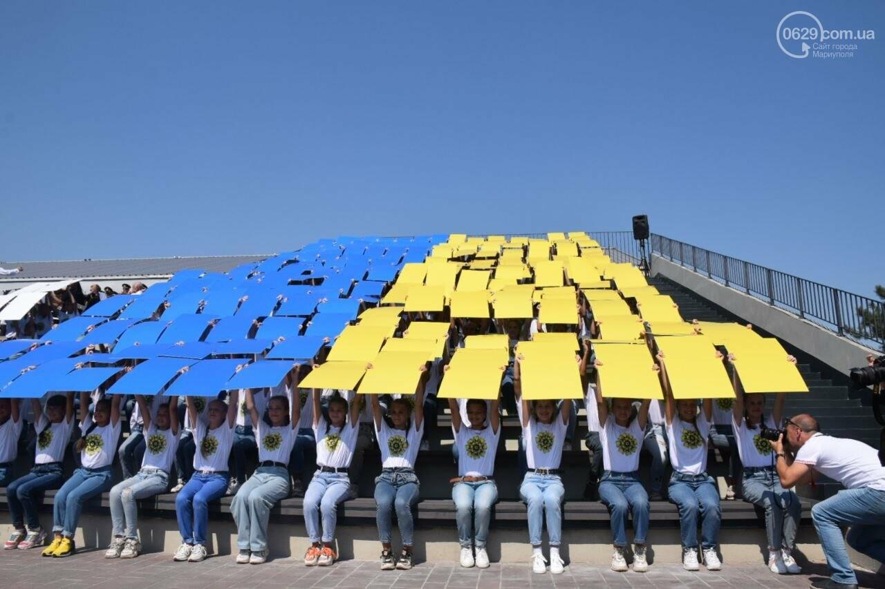 В Мариуполе провели необычный флешмоб ко Дню Независимости, - ФОТОРЕПОРТАЖ, ВИДЕО, фото-11