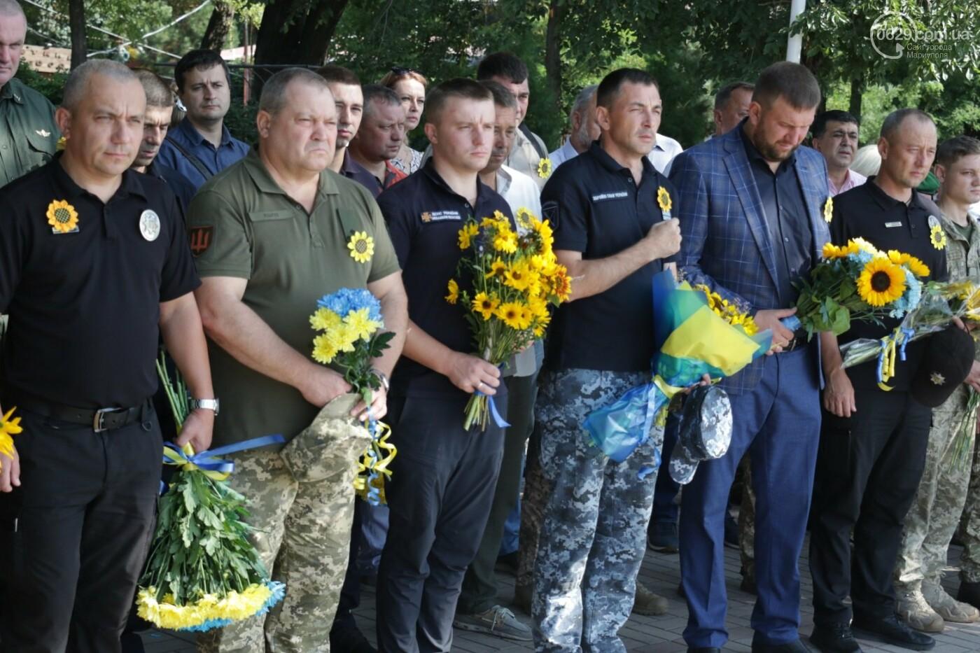 Общенациональная минута молчания. Как в Мариуполе почтили память защитников Украины, - ФОТОРЕПОРТАЖ, фото-11