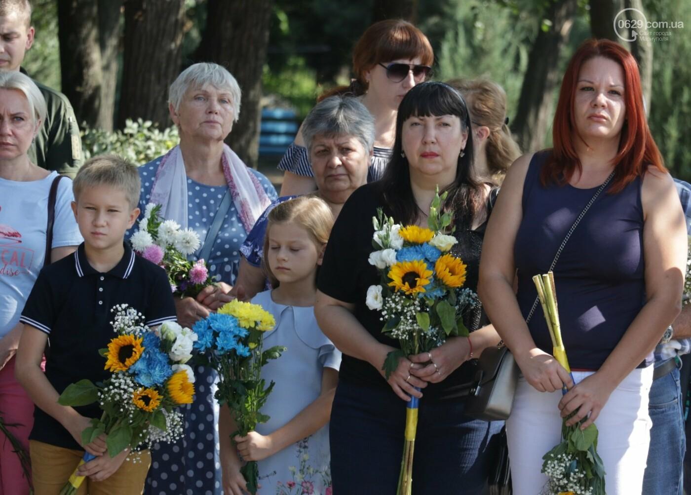 Общенациональная минута молчания. Как в Мариуполе почтили память защитников Украины, - ФОТОРЕПОРТАЖ, фото-16