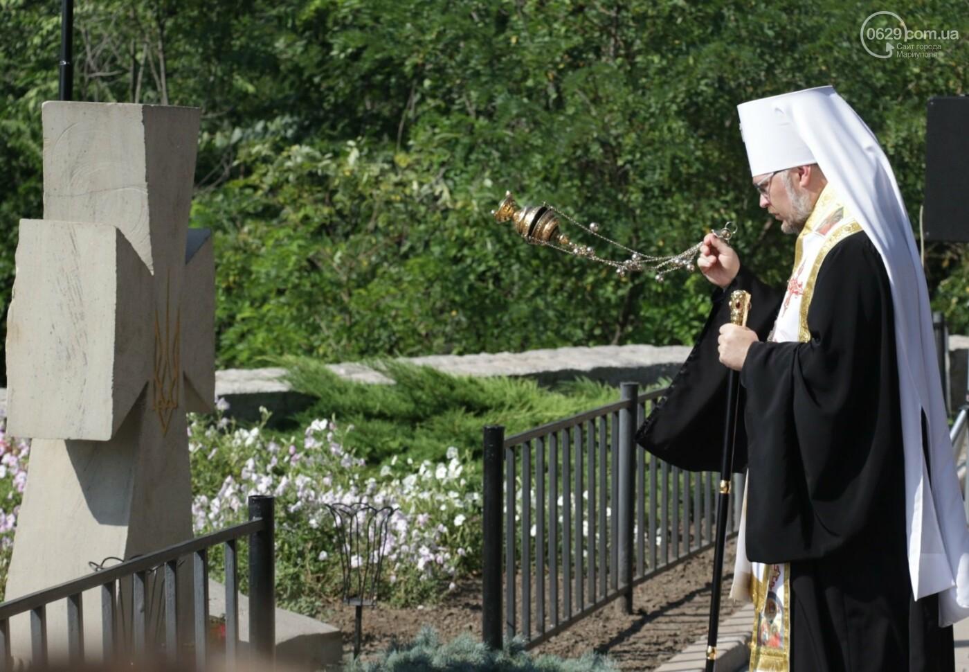 Общенациональная минута молчания. Как в Мариуполе почтили память защитников Украины, - ФОТОРЕПОРТАЖ, фото-9