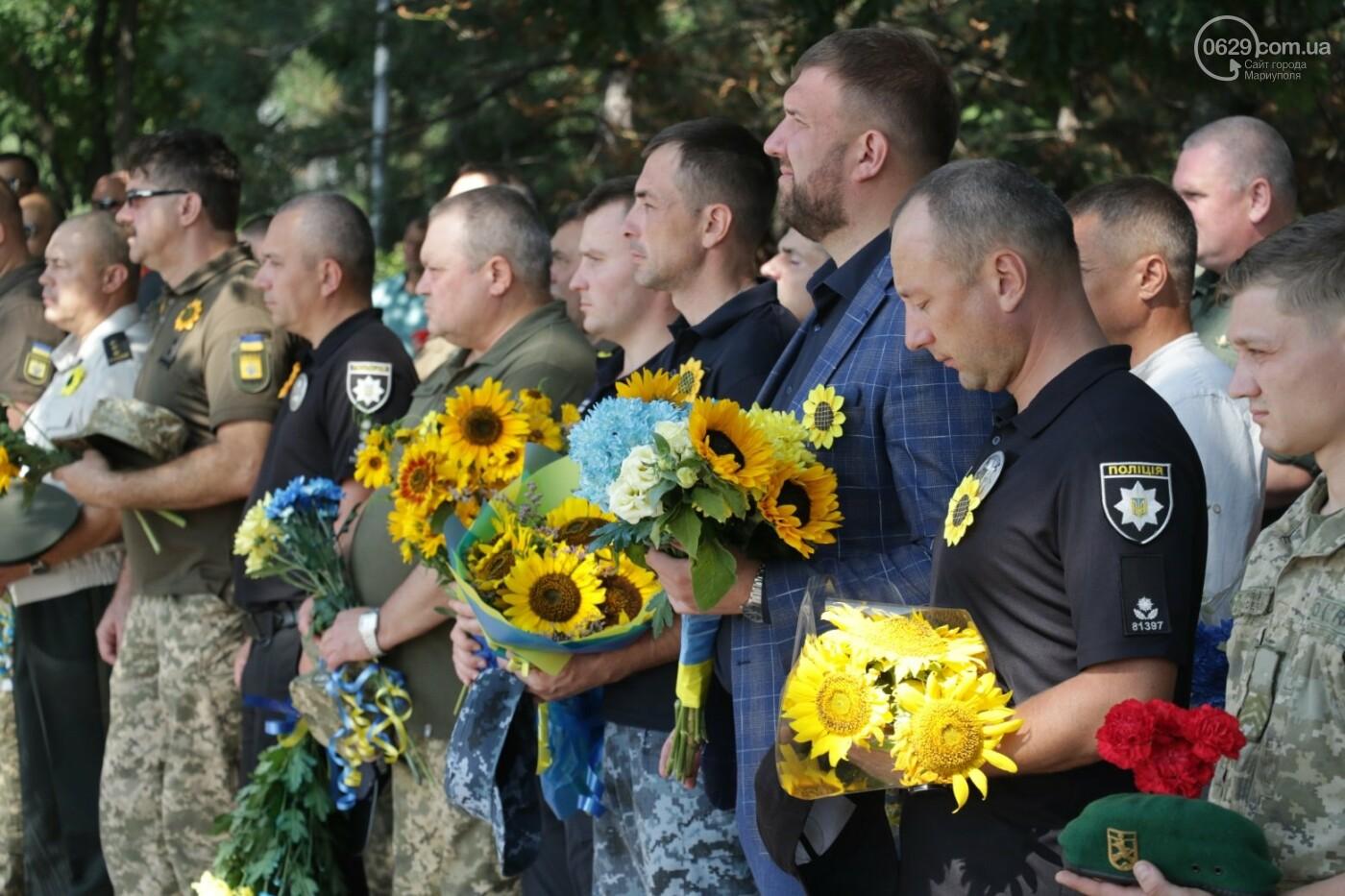 Общенациональная минута молчания. Как в Мариуполе почтили память защитников Украины, - ФОТОРЕПОРТАЖ, фото-18