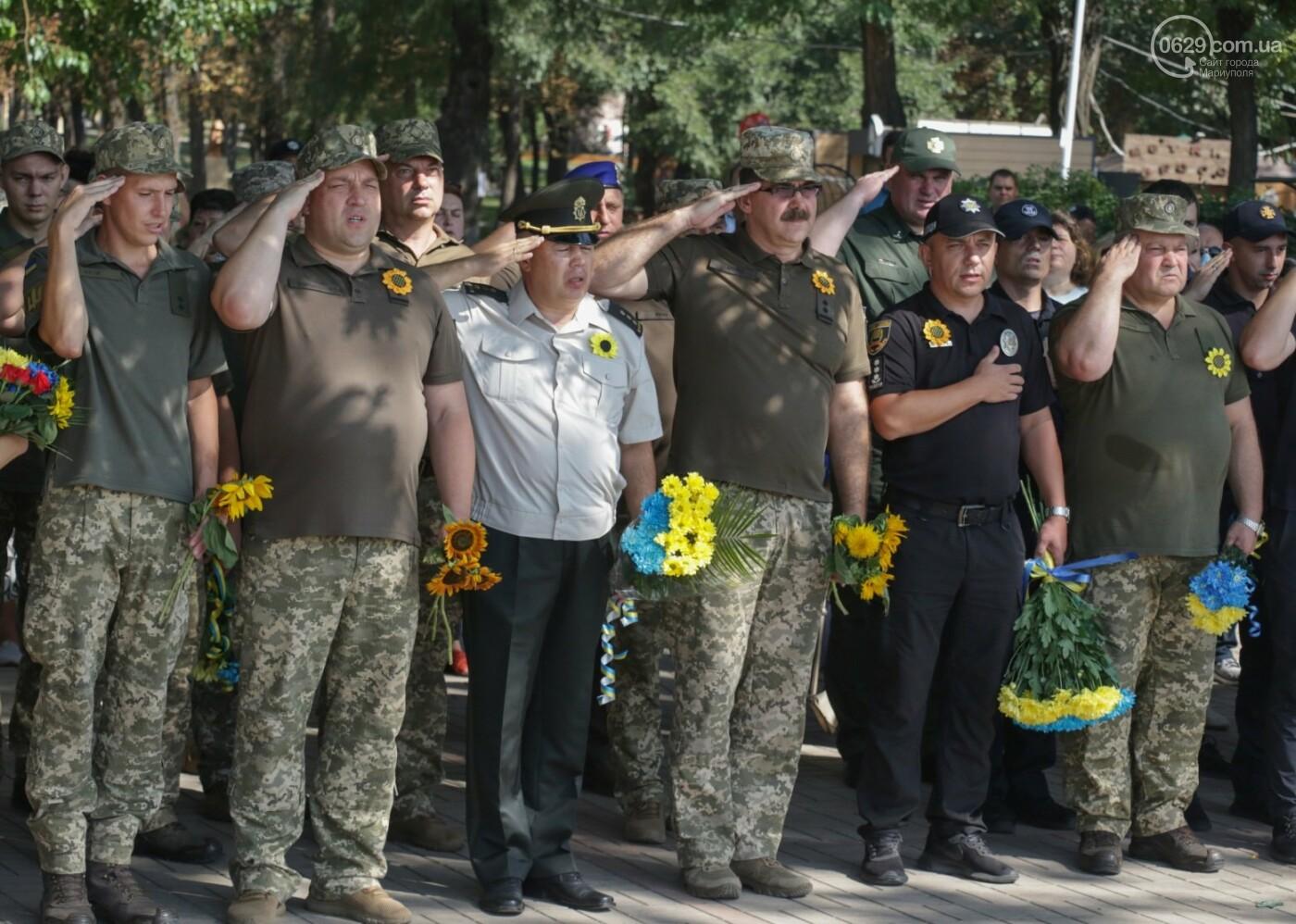 Общенациональная минута молчания. Как в Мариуполе почтили память защитников Украины, - ФОТОРЕПОРТАЖ, фото-19