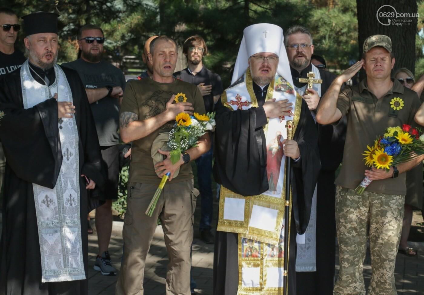 Общенациональная минута молчания. Как в Мариуполе почтили память защитников Украины, - ФОТОРЕПОРТАЖ, фото-20