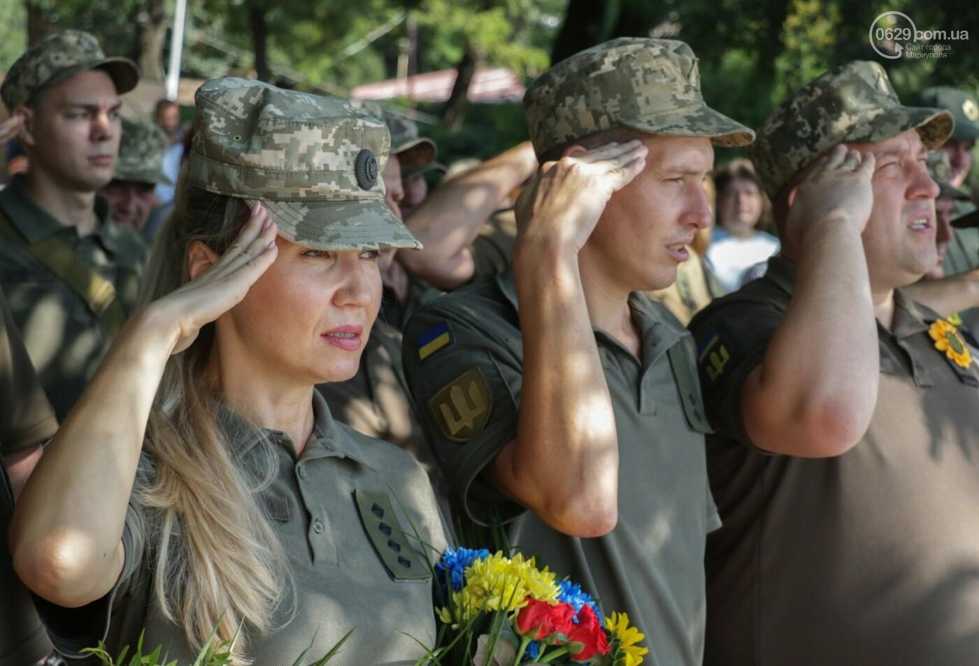 Общенациональная минута молчания. Как в Мариуполе почтили память защитников Украины, - ФОТОРЕПОРТАЖ, фото-21