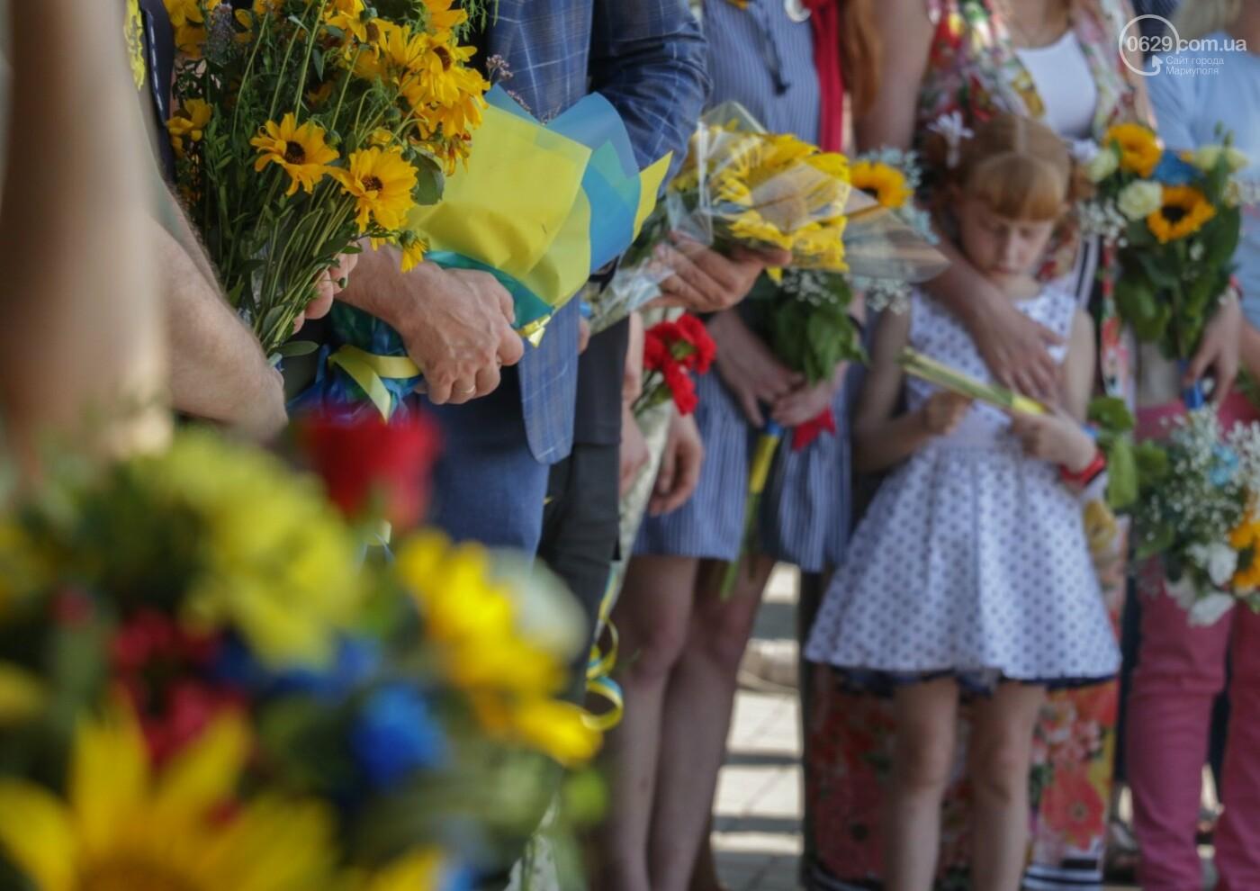 Общенациональная минута молчания. Как в Мариуполе почтили память защитников Украины, - ФОТОРЕПОРТАЖ, фото-23