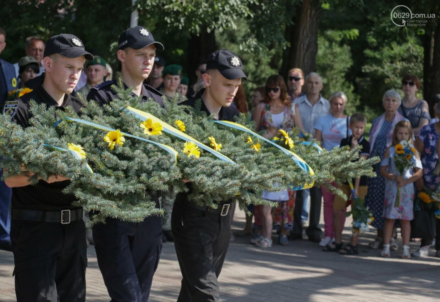 Общенациональная минута молчания. Как в Мариуполе почтили память защитников Украины, - ФОТОРЕПОРТАЖ, фото-3