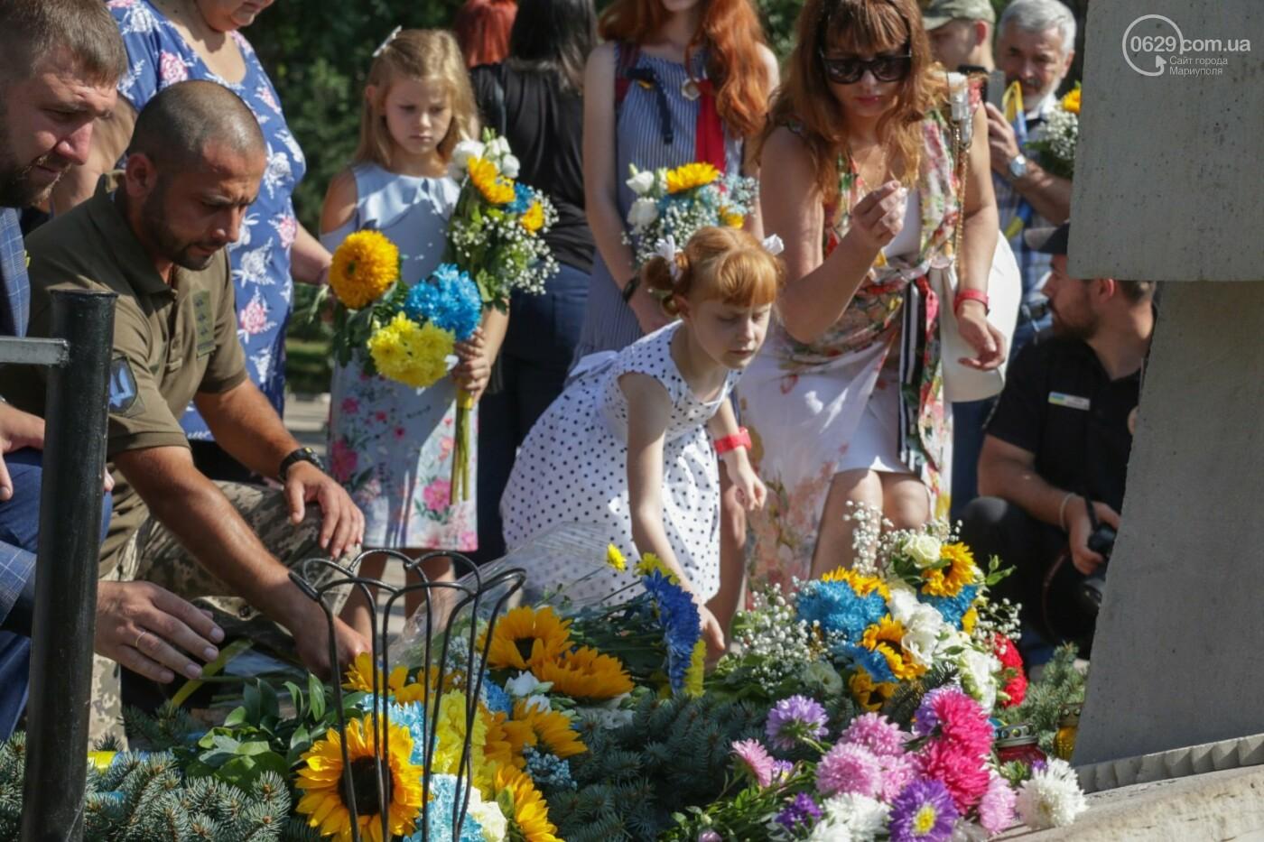 Общенациональная минута молчания. Как в Мариуполе почтили память защитников Украины, - ФОТОРЕПОРТАЖ, фото-5