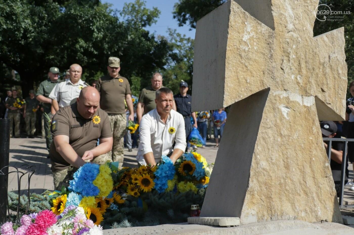 Общенациональная минута молчания. Как в Мариуполе почтили память защитников Украины, - ФОТОРЕПОРТАЖ, фото-6