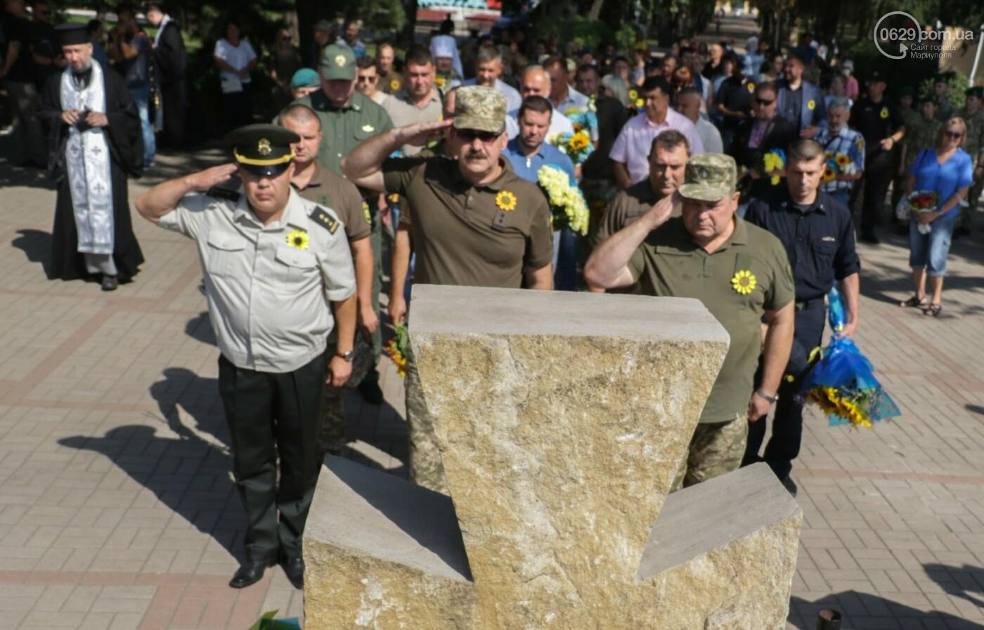 Общенациональная минута молчания. Как в Мариуполе почтили память защитников Украины, - ФОТОРЕПОРТАЖ, фото-7