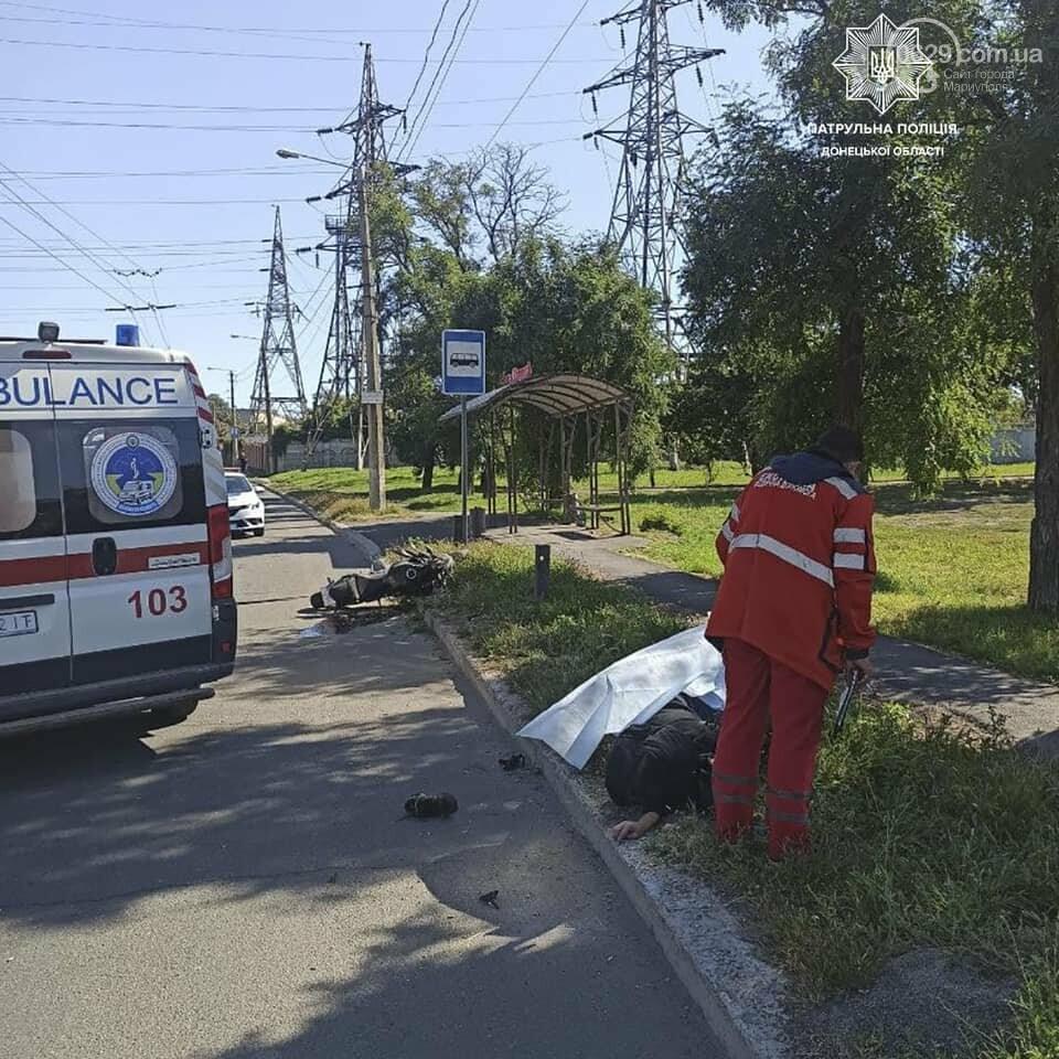 В Мариуполе  в аварии на улице Бахчиванджи погиб  мотоциклист,- ФОТО, фото-1