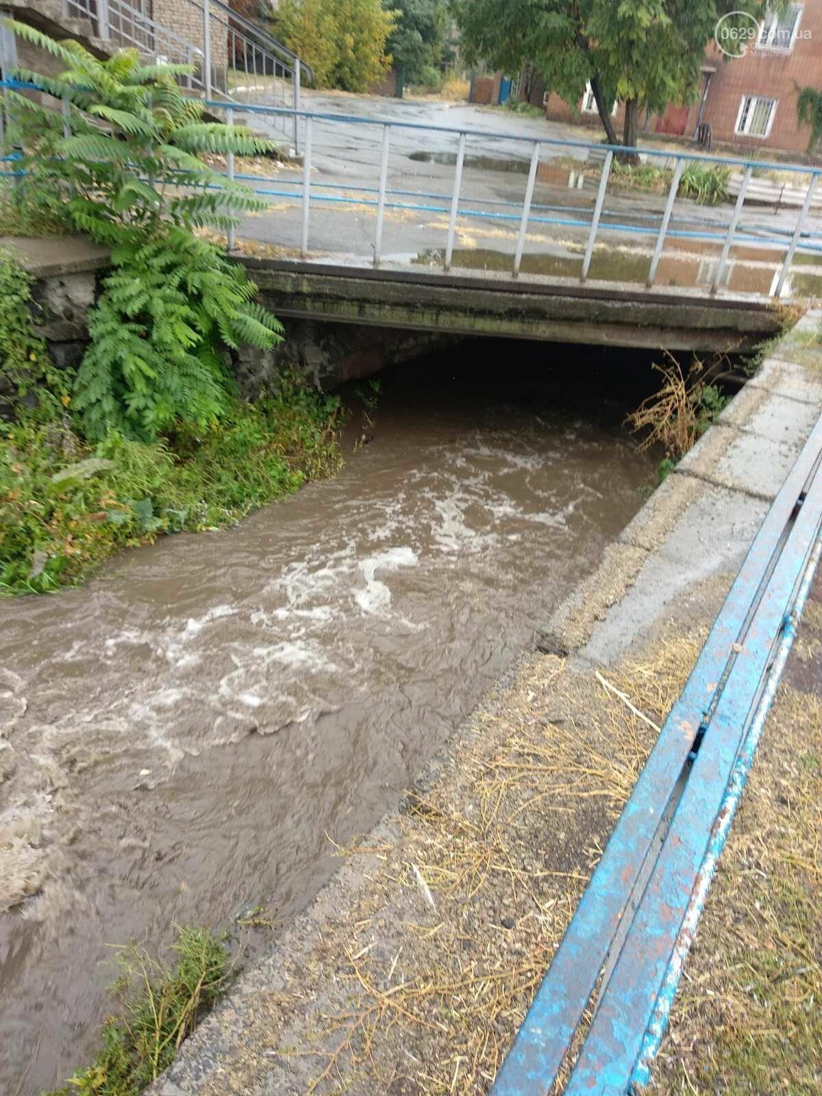 Как в Мариуполе откачивали воду из ливневок, - ФОТО, фото-1