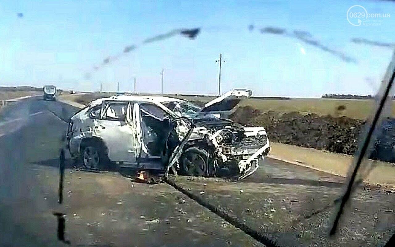 Смертельная авария: под Мариуполем перевернулся внедорожник «Toyota Rav4», - ФОТО, ВИДЕО, фото-2