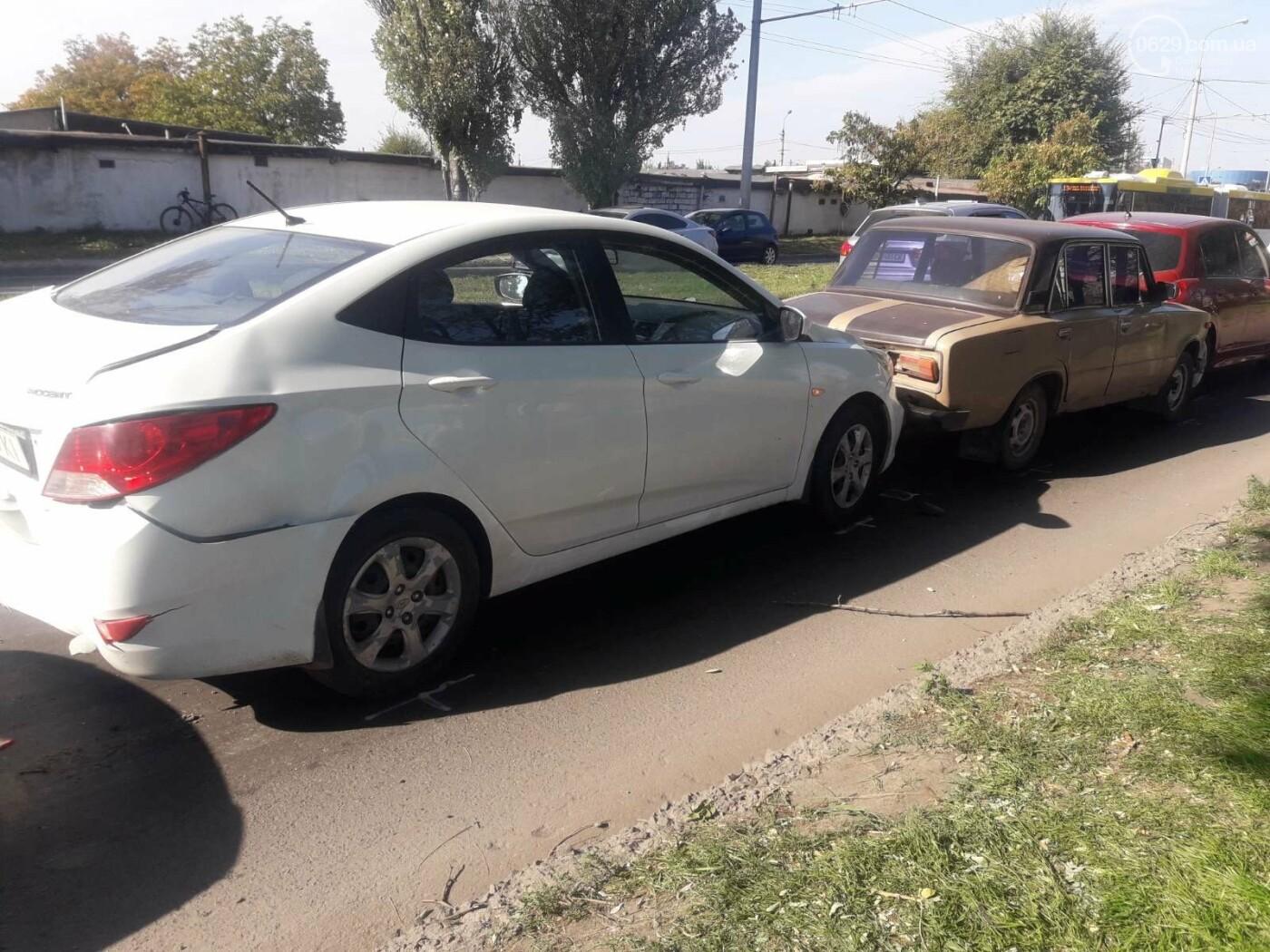 В Мариуполе столкнулись сразу четыре автомобиля, - ФОТО, фото-2