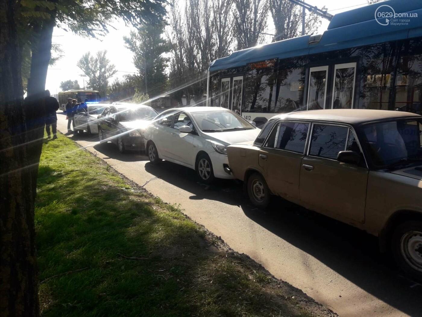 В Мариуполе столкнулись сразу четыре автомобиля, - ФОТО, фото-1