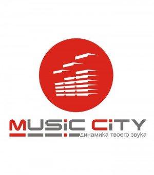 Логотип - Магазин музыкальных инструментов Music City, звуковое и световое оборудование.