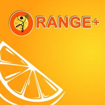 Логотип - ORANGE+   Спорт. Сауна. Детские дни рождения.